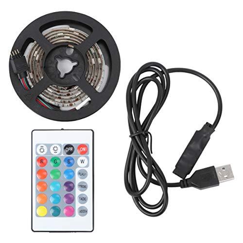 LEDMOMO Luces de tira del LED, luz posterior de la tira del USB LED TV con control remoto Iluminación de Bias impermeable del color para la decoración interior de la fiesta del club 1M 5V