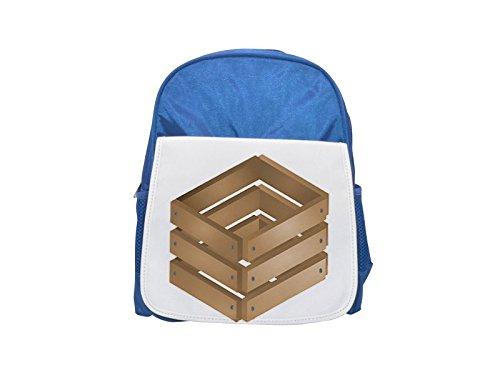 Mochila de madera para niños con estampado de caja de madera, bonitas...