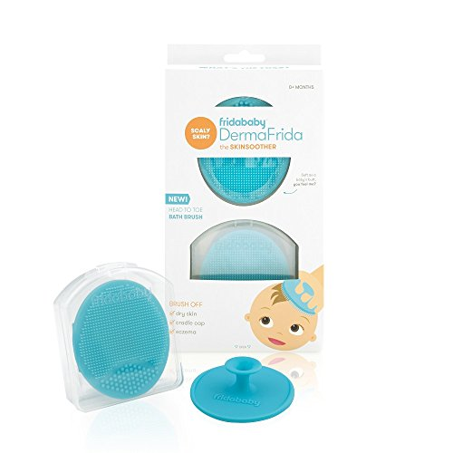 DermaFrida The SkinSoother Baby Bath Silicone Brush by Fridababy   Baby Essential for Dry Skin, Cradle Cap and Eczema (2 Pack)