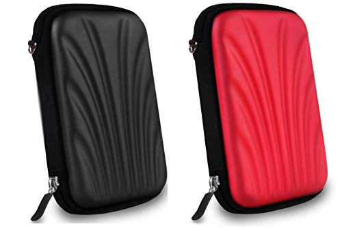 AlexVyan 2 Pcs Combo Black and Red Shock Proof 2.5 Inch Laptop...
