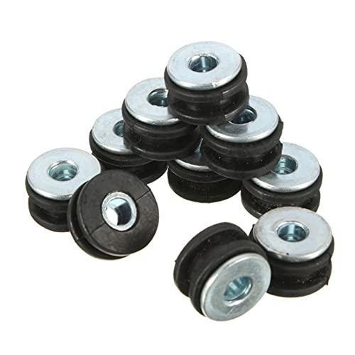 POLKMN 10 Establecer motocicletas Ojales de goma Juego de pernos Alivio de presión Accesorios de cojín Q9QD (Color Name : Black)