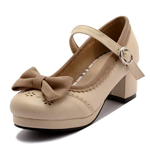 AMURAO Zapatos de vestir con plataforma bonita Mary Jane para mujer, cómodos,...