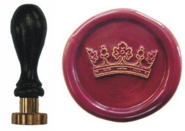 Siegel Stempel Petschaft Krone 24 mm