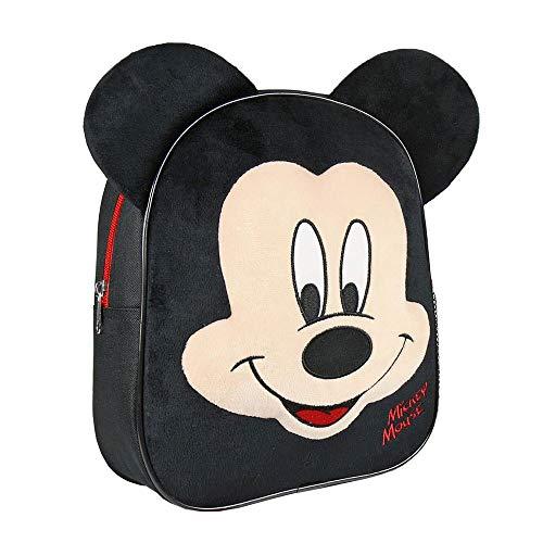 Cerdá Mickey Kinder-Rucksack, 28 cm, Schwarz (negro), CD-21-2300
