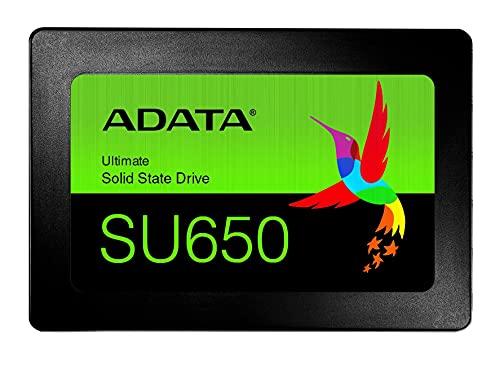 ADATA Ultimate SU650 - 240 GB, interne Solid-State-Drive mit 3D-NAND-Flash, 2.5 Zoll, schwarz