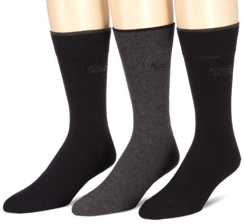 camel active Herren Socke 3 er Pack 6590X socks box 3 Paar, Gr. 43-46, Schwarz (black - 610)