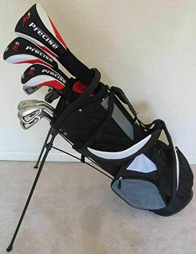 Tall Mens Golf Set Complete - Right Handed Driver, Fairway Wood, Hybrid, Irons, Putter, Stand Bag Clubs +1