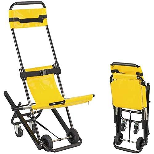 PoJu Klappbarer Krankenwagenstuhl, EMS-Treppenstuhl, sichere und schnelle Evakuierung, Treppensteigen, schmale Treppenhäuser und Hallen, Einzeltransfer