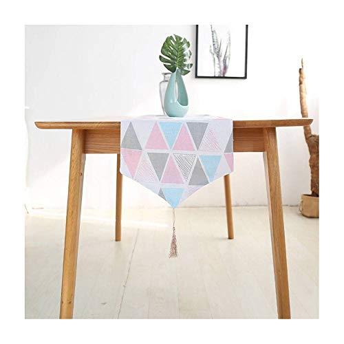 CUIZC Camino de mesa con bloqueo de color geométrico, toalla de mano, mantel antideslizante y resistente a la suciedad, 30 x 220 cm