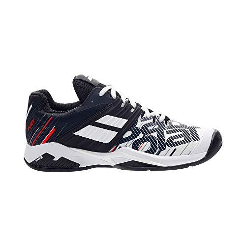 Babolat Herren Propulse Fury Clay Men Tennisschuhe, White/Black, 43 EU