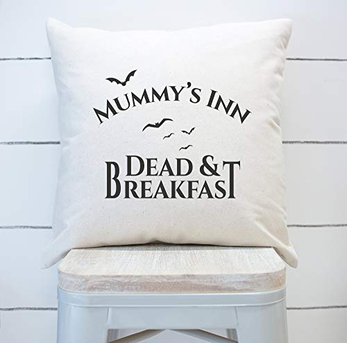 Alicert5II Farmhouse sierkussen Mummys Inn Dead and Breakfast kussensloop Halloween Pillow