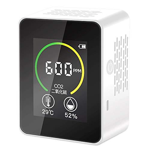 Elikliv Medidor de CO2, Detector Inteligente de Calidad del Aire para Contenido de Concentración de CO2, Analizador de Calidad de Aire de Temperatura y Humedad