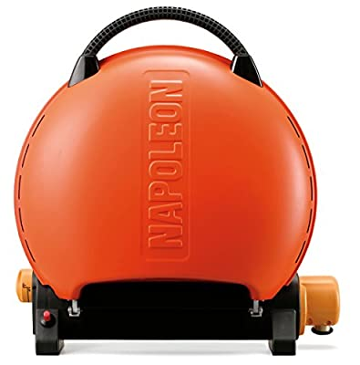 Napoleon TQ2225PO Travel Q Portable Grill, Orange