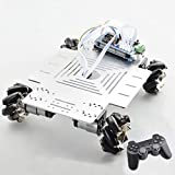 20kg Gran Carga Inteligente RC Mecanum de Ruedas del Robot del chasis del Coche Kit Plataforma Omni con el regulador PS2 Mega2560 Proyecto Arduino para (Color : 1 Set RC Robot)