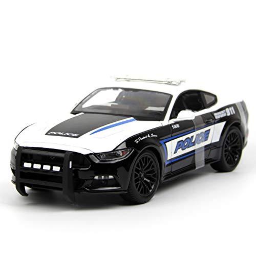 GYZS-TOY 01:18 modèle de Voiture/Compatible avec Ford Mustang GT Décoration/modèle de Voiture Simulation en Alliage modèle de Voiture Cadeau (Color : Black)