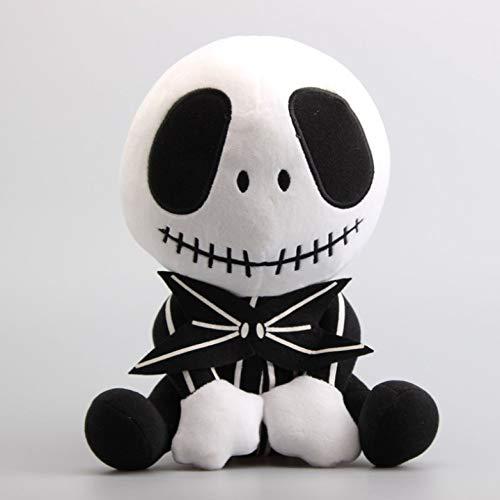 qwermz Peluche, Dibujos Animados 11 8 Cm Sentado Jack Plush Doll Plush Sofá Cojín Almohadas Jack Skeleton Peluches De Peluche
