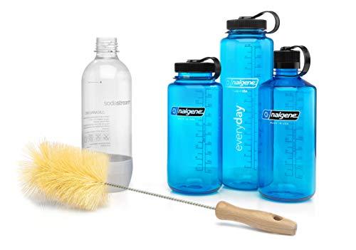 ktDesign extra breite Flaschenbürste für Trinkflaschen, insb. Nalgene, SodaStream, 720° – Flaschenreiniger für eine schonende &...