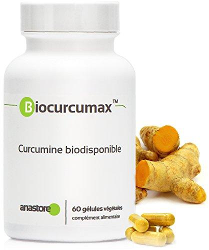 BIOCURCUMAX? - Curcumina Biodisponible * 350 mg / 60 cápsulas * Curcuma titulada al 95% en curcuminoides * Antioxidantes, Cerebro, Músculos & esqueleto * Fabricado en Francia