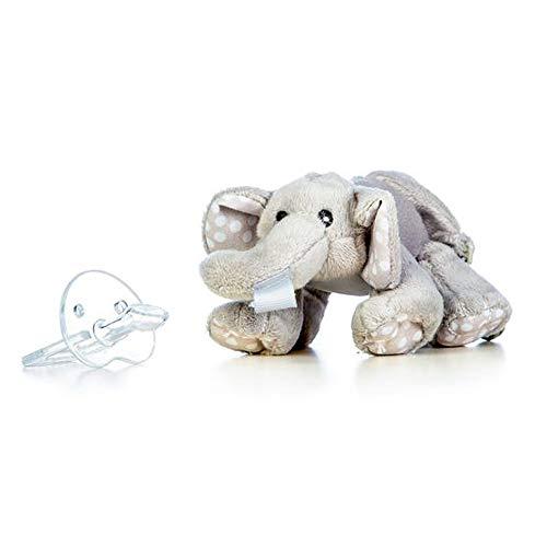 Kuscheltier Elefant mit Schnuller (0-6 Monate) ultra soft, perfektes Geschenk für Neugeborene und Babys, Schnullertier