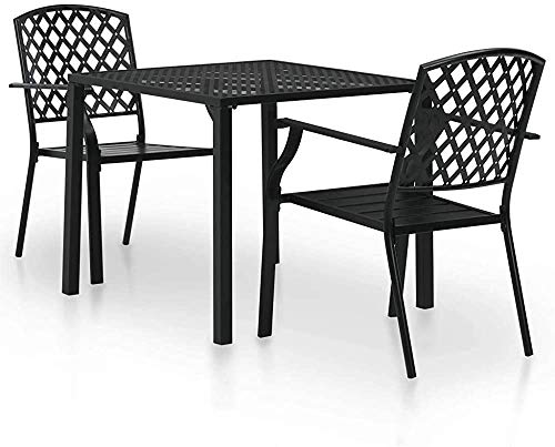 Mesas de bar al aire libre sillas apiladas traje de rejilla jardín,Black