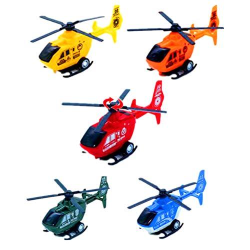 Toyvian Spielzeugflugzeug Set Simulation Mini Pullback Hubschrauber Spielzeug 6 Stücke für Kinder Kinder Spielen (Zufällig)
