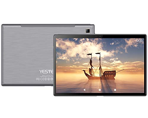 Tablet 10 Pulgadas, 5G Wi-Fi, 4G LTE Dual SIM, Android 10.0 YESTEL T5 Procesador Octa-Core 1.6 GHz Tablet PC, HD Display, 3 GB de RAM, 64GB Ampliables hasta 128 GB, Color Gris