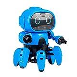 JUGUETECNIC │ Six el robot para niños de montar │ Reproduce gestos y esquiva obstáculos   Robótica educativa para interactuar junto con los más pequeños