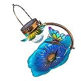 PIXNOR Solar Alimentador de Aves Salvajes Colgante Pájaro Solar Linterna de Jardín de Luz Solar Salvaje Baño de Pájaro Pájaro de La Bandeja para Patio Jardín Patio Decoración
