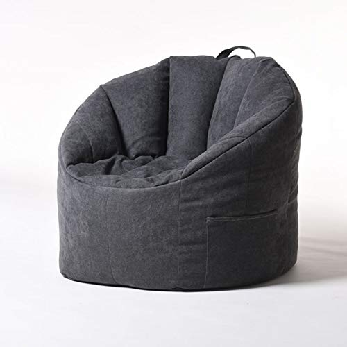 ZH1 Bean Bag Chair, Large Bean Bag Chairs for Adults, Kids Table and Chair Set, Bean Bag Filler, Convertible Chair Folds from Bean Bag to Bed,Black