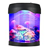 Mini Fish Tank, USB LED Aquarium Light Desk Mini Fish Tank Mood LED