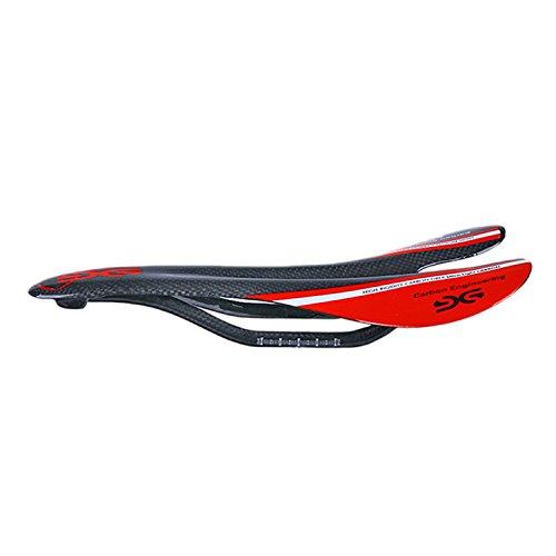 Huntfgold Carbon Sattel MTB Rennrad Fahrradsattel Leicht Mountainbike Sättel Hohlsattel Fahrradsitz für Männer Frauen