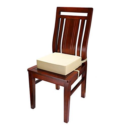 S umnacon Sumnacon 食事 クッション こども 座布団 椅子用 クッション こども 高さ調節 チェアクッション 子供 ひも付き (ベージュ+ブラウン)