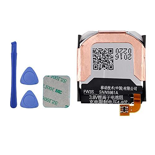 E-YIIVIIL FW3S - Batería de repuesto compatible con Moto 360 2.ª generación 2015 SNN5971A Smart Watch 42 mm con kit de herramientas