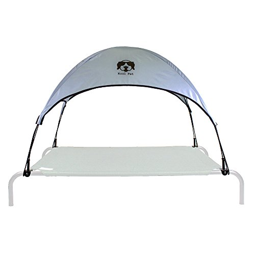 Everything Summer Camp Dog Bed Canopy/Sun Shade with Adapter - Fits Large Coolaroo & Amazon Basics Elevated Pet Bed Frames