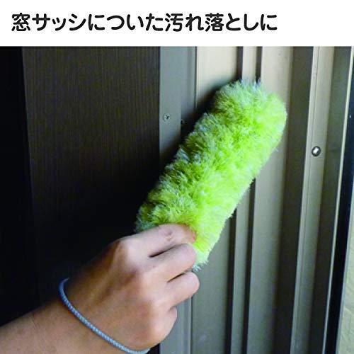 山崎産業網戸ブラシハンディバスボンくんスッキリクリーナーグリーン147489