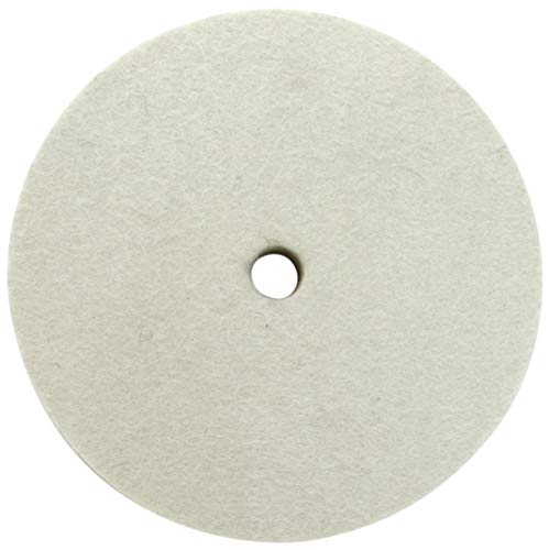 LINE10 Tools 6 Inch Felt Buffing Wheel for 1/2-inch Arbor Bench Buffer, Extra Thick