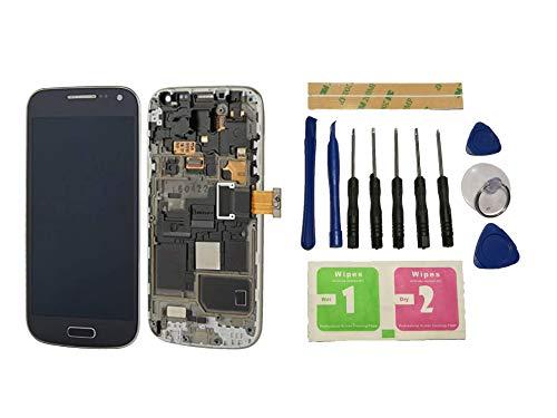 Flügel für Samsung Galaxy S4 Mini i9195 i9190 Display LCD Ersatzdisplay Schwarz Touchscreen Digitizer Bildschirm Glas Komplett Einheit mit Rahmen Ersatzteile & Werkzeuge & Kleber