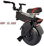 Las últimas Deluxe 1500W plegable Scooter eléctrico, una rueda auto Equilibrio inteligente Sistema de frenos scooters del motor eléctrico monociclo 550lbs Peso máximo de carga con batería de litio de