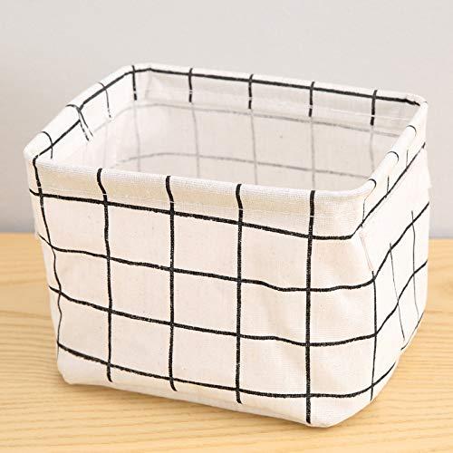 SYXX Caja de almacenaje DIY Desktop Storage Basket Sundies Ropa Interior Caja de Almacenamiento de Juguete Cosmetic Libro Organizador Papelería Papelería Cesta de lavandería (Color : Negro)