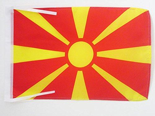 AZ FLAG Flagge MAZEDONIEN 45x30cm mit Kordel - MAKEDONISCHE Fahne 30 x 45 cm - flaggen Top Qualität