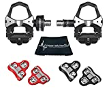 Wearable4U Favero Assioma Uno Pedal Based Cycling Power Meter with Extra Cleats Cleaning Cloth Bundle