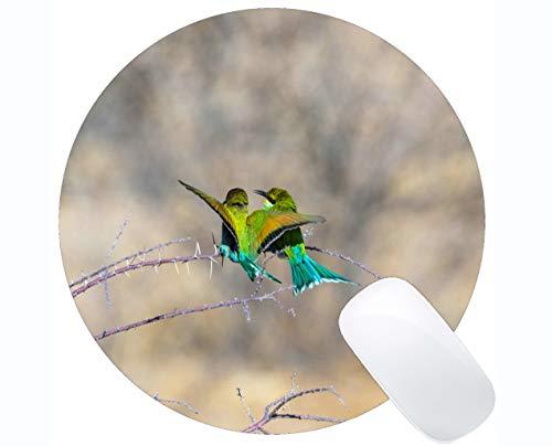 Preisvergleich Produktbild Kundengebundenes Rechteck-rutschfestes Gummimousepad,  europäische Bienen-Esser-Vogel-Spiel-Runde Mausunterlagen