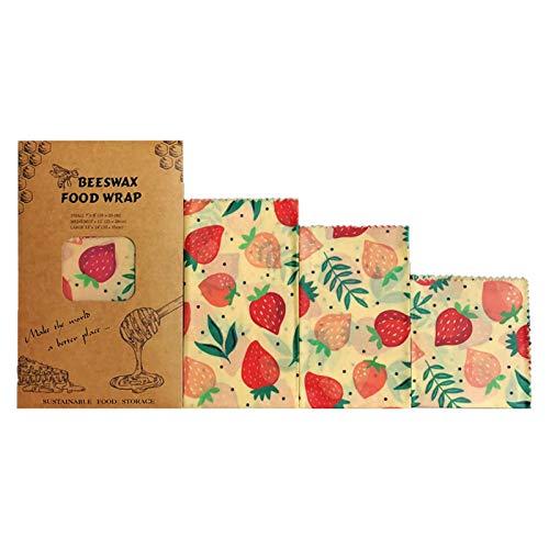 PROKTH キッチンラップ 蜜蝋ラップ エコ みつろうラップ ビーズワックス 100% 天然 再利用可能 お土産 生鮮保存 贈り物