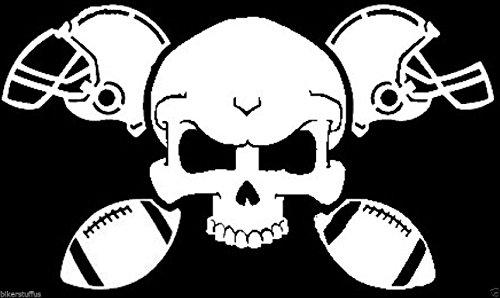 Football Crossbones Helmet Ball Pads Cleats Skull Bumper Sticker