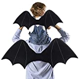 D-FantiX Bat Wings for Kids, 2 Pack Parent-Child Bat Wings Backpack Party Favors Halloween Decorations