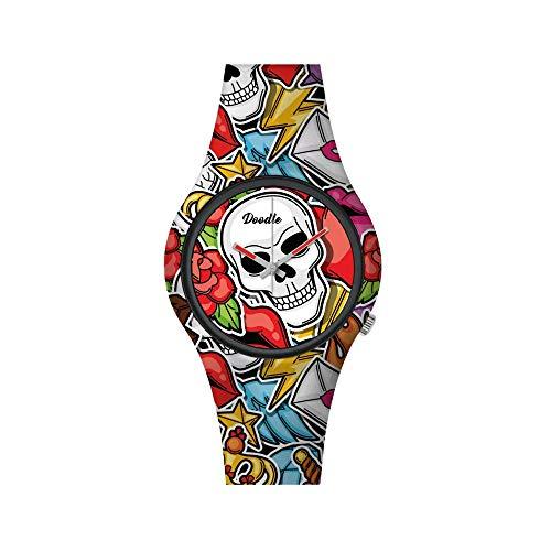 Doodle Skull Mood - Reloj de pulsera para mujer, diseño moderno, cód. DOSK003