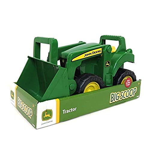 TOMY John Deere Big Scoop Tractor Toy with Loader, 15-Inch, Multi