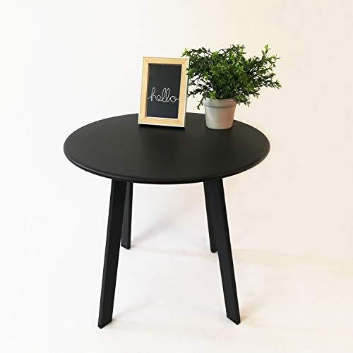 Koopman Bijzettafel rond metaal Ø 50x45cm grijs, metalen tafel bistrotafel serveertafel tuintafel