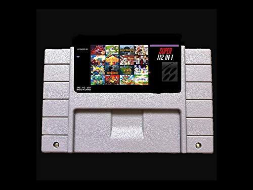 Flowing CHENZHEN ¡Ahorre!112 en 1 / Enlace a Pasado/Batmane/Dragon/Mortal Kombat/Bomberman/Fire Emblem EE. UU. -NTSC 16 bit 46 Pines Videojuegos! CZ (Color : Orange Color)