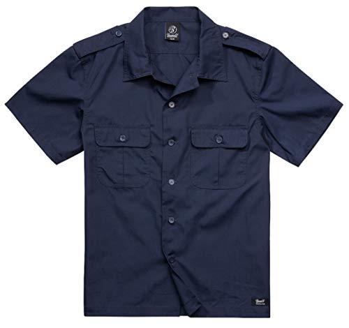 Brandit Ripstop Manga 1/2 Hombre Camisa Manga Corta Azul Mar